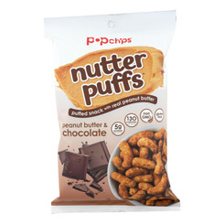 Popchips - Puffs Peanut Butter Chocolate - Case Of 12 - 4 Oz