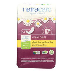 Natracare Organic & Natural Maxi Pads  - Case Of 12 - 14 Ct