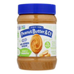 Peanut Butter & Co - Peanut Butter No Sugar Smooth - Case Of 6 - 16 Oz
