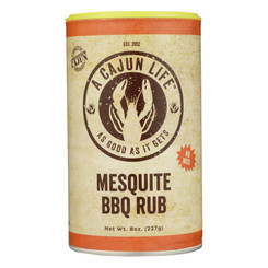 A Cajun Life Mesquite Bbq Seasoning, 8 Oz - Case Of 6 - 8 Oz