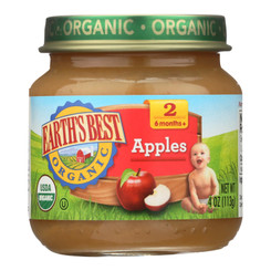 Earth's Best - Apple - Case Of 10-4 Oz