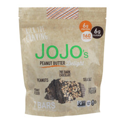 Jojo's Peanut Butter Delight Bars Start With A Base Of Premium German Dark Chocolate And  - Case Of 6 - 8.4 Oz