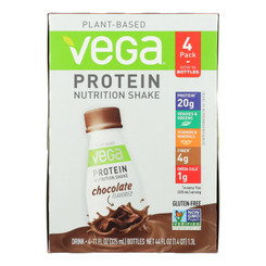 Vega Protein Nutrition Shake, Chocolate - Case Of 3 - 4/11 Fz