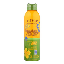 Alba Botanica Sunscreen - Hawaiian - Clear Spray Spf 50 - Nourishing Coconut - 6 Oz