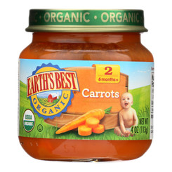 Earth's Best - Stage 2 Carrots - Case Of 10-4 Oz
