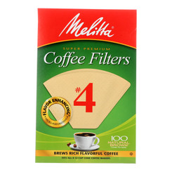 Melitta - Cone Filters Brown #4 - Case Of 12 - 100 Ct