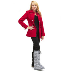 BootGuardz! in Queen Anne Now you don't have to worry about rain or snow while wearing your boot.  Angie is wearing Queen Anne in a Medium High Top style to keep her toes, boot, and boot liner dry.