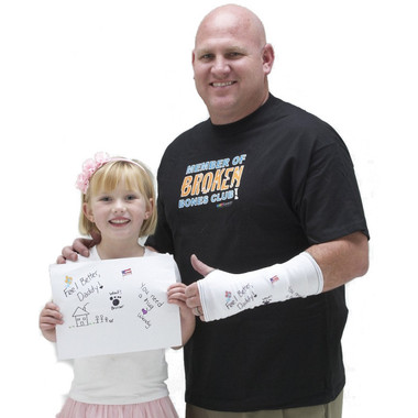 "Create a ""get well"" card for your cast.  Personalize it with your own artwork!"