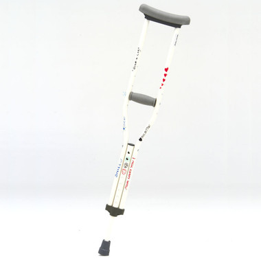 Designer Color Crutches from CastCoverz! in Autographical White