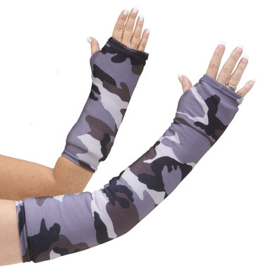 Long and short arm cast cover in grey camo print.  A great alternative to our green camo print.