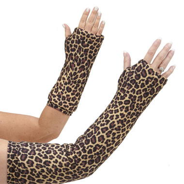 One of our most popular prints.  Classic cheetah print with brown and black spots on a light brown background.  Available for long and short arm casts.