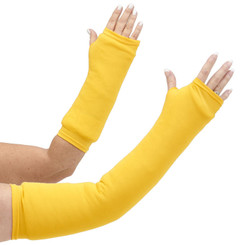 Long and short arm cast cover in bright yellow.  Perfect for Golden State Warriors and Laker fans!