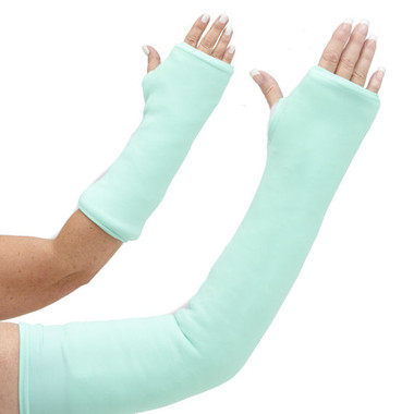 Long and short arm cast cover in mint green, Color of the Year 2013, evokes images from mint chocolate chip ice cream to Bahama beach tones.