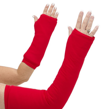 Solid basic red arm cast cover. Great for Valentine's Day, Christmas, Santa, 4th of July or to cheer on your favorite sport team. Available in long OR short arm styles.