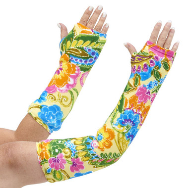 You can almost smell these beautiful, bright happy flowers. On a summer yellow background, Summer Bouquet arm cast cover will brighten your day! Available in long and short arm styles.