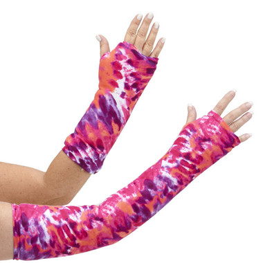 Tie-Dye is in and you can have it in pinks, purples, whites and oranges for your very own designer arm cast cover. Available in long and short styles.