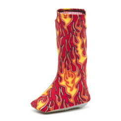 CastCoverz! Bootz! - Flames On Red