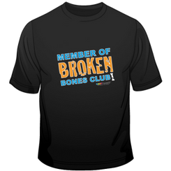 Broken Bones Club Short Sleeve Tee for Adults.  Available in black.
