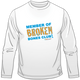 Broken Bones Club Long Sleeve Tee for Kids.  Available in white.