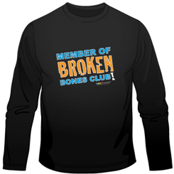 Broken Bones Club Long Sleeve Tee for Kids.  Available in black.