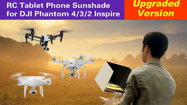 Aerial Photograph 5.5in Smartphone Sunshade 7.9in 9.7in iPad Tablet Pad Sunshade Sun Hood for DJI Inspire Phantom 4/PRO/3/2 Dolphin Co RC Australia