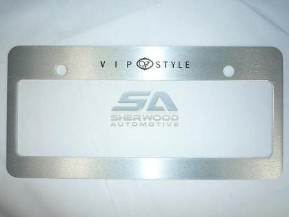 Vip Style License Plate Frame Brushed Korean Auto Imports