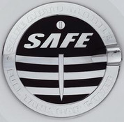 "Captiva ""Safe"" Chrome Fuel Door Cover"