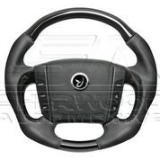Actyon Black Leather Steering Wheel