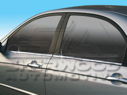 07+ Spectra Chrome Window Sill