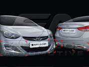 2011+ MD Elantra Chrome Fog Lamp Cover Set 4pc