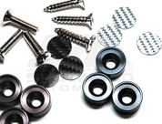 Carbon License Plate Screws 3pc Set