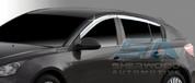 2011+ Chevy Cruze 5 door Hatchback Chrome Window Visors