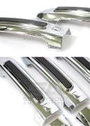 Chevy Aveo / Kalos Chrome / Carbon Door Handle Covers 8pc
