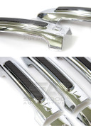 Actyon Chrome / Carbon Door Handle Covers 8pc