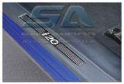 i20 3 door Stainless Steel / ABS Door Sill Entry Guards 2pc