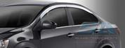 2012+ Chevy Sonic Chrome Window Visors