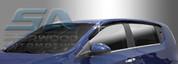 2012+ Chevy Aveo 4 Door Sedan Smoke Tinted Window Visors
