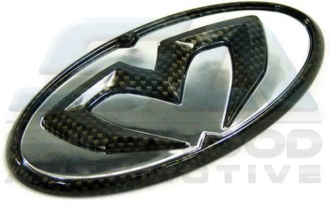 06-10 Accent/Verna M&S CARBON/CHROME Grill Trunk Steering Cap Em