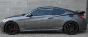 2013+ Genesis Coupe Road Runs Side Skirts 2pc.