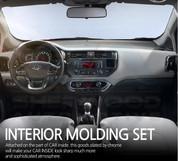 2012+ Rio Chrome Interior Molding Set