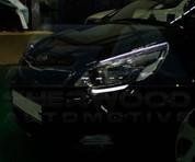 2012+ Rio 5 Door Illuminated LED Healight Eyelid Set 2pc