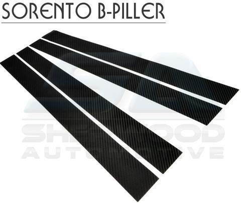 2007+ Kia Sorento Carbon Fiber Optic Door B- Pillar Set 4pc 2003 2004 2005 2006 2008 2009
