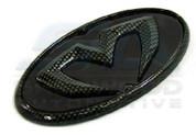 2013+ Elantra Coupe BLACK/CARBON M&S Emblem 7pc Set