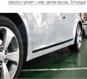 Chevy / Holden Cruze 5 Door Black Door Decal Set 4pc DIY