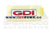 "2012+ Rio 5 Door ""GDI"" plaque emblem"