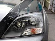 07-09 Sorento Black Bezel Headlights W/ LED Angel Eyes