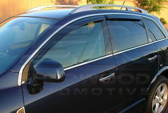 Saturn Vue Opel Antara Smoke Tinted Window Vent Visors Set