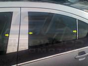 2013+ Chevy Volt Chrome Pillar Post Trim 6pc