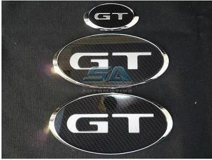 """08-12 Subaru Tribeca """"GT"""" Carbon Emblem Set Grill Trunk Steering"""