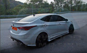 2011+ Elantra MD ZIN Side Skirts 2pc